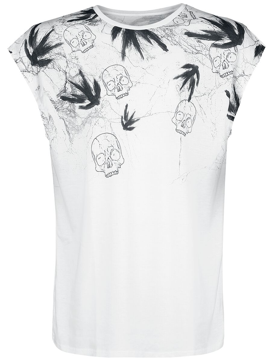 Image of   Outer Vision Marble Skulls Tanktop hvid