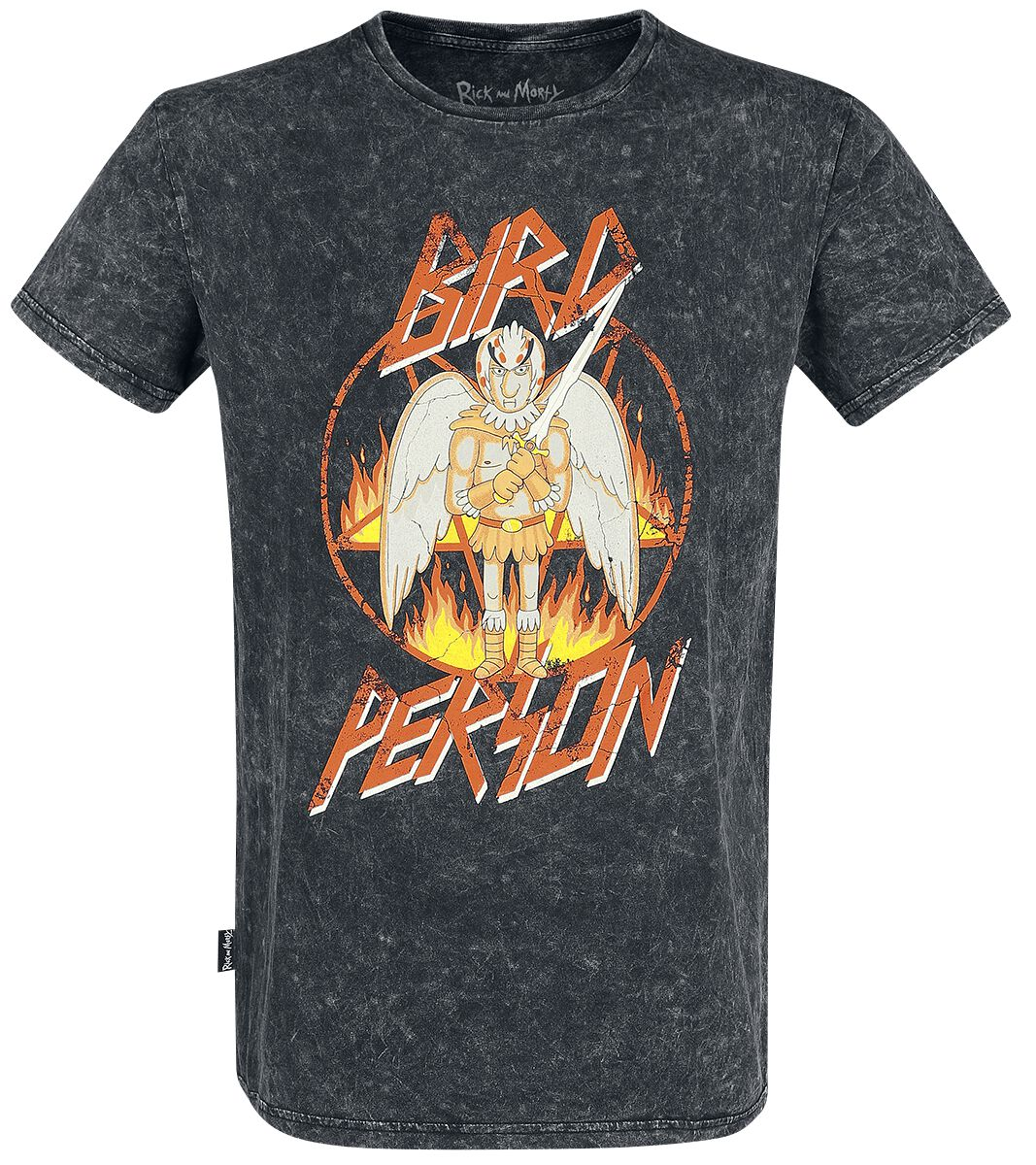 Image of   Rick And Morty Bird Person T-Shirt grå