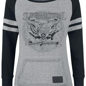Supernatural Saving People Hunting Things Sweat-shirt Femme gris/noir