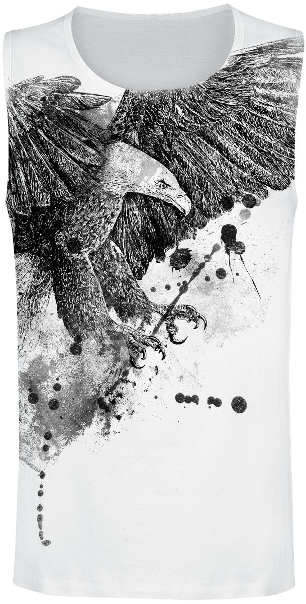 Image of   Outer Vision Eagle Attack Tanktop hvid