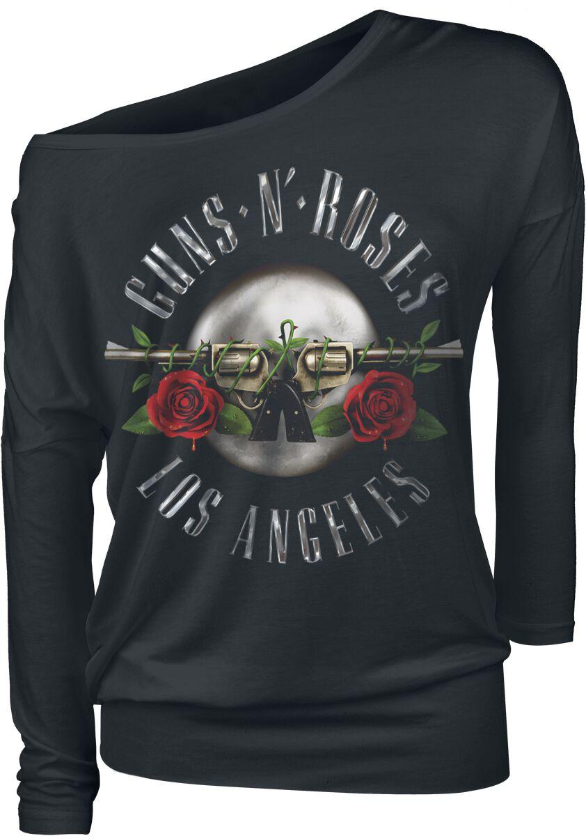 Image of   Guns N' Roses Los Angeles Seal Girlie langærmet sort