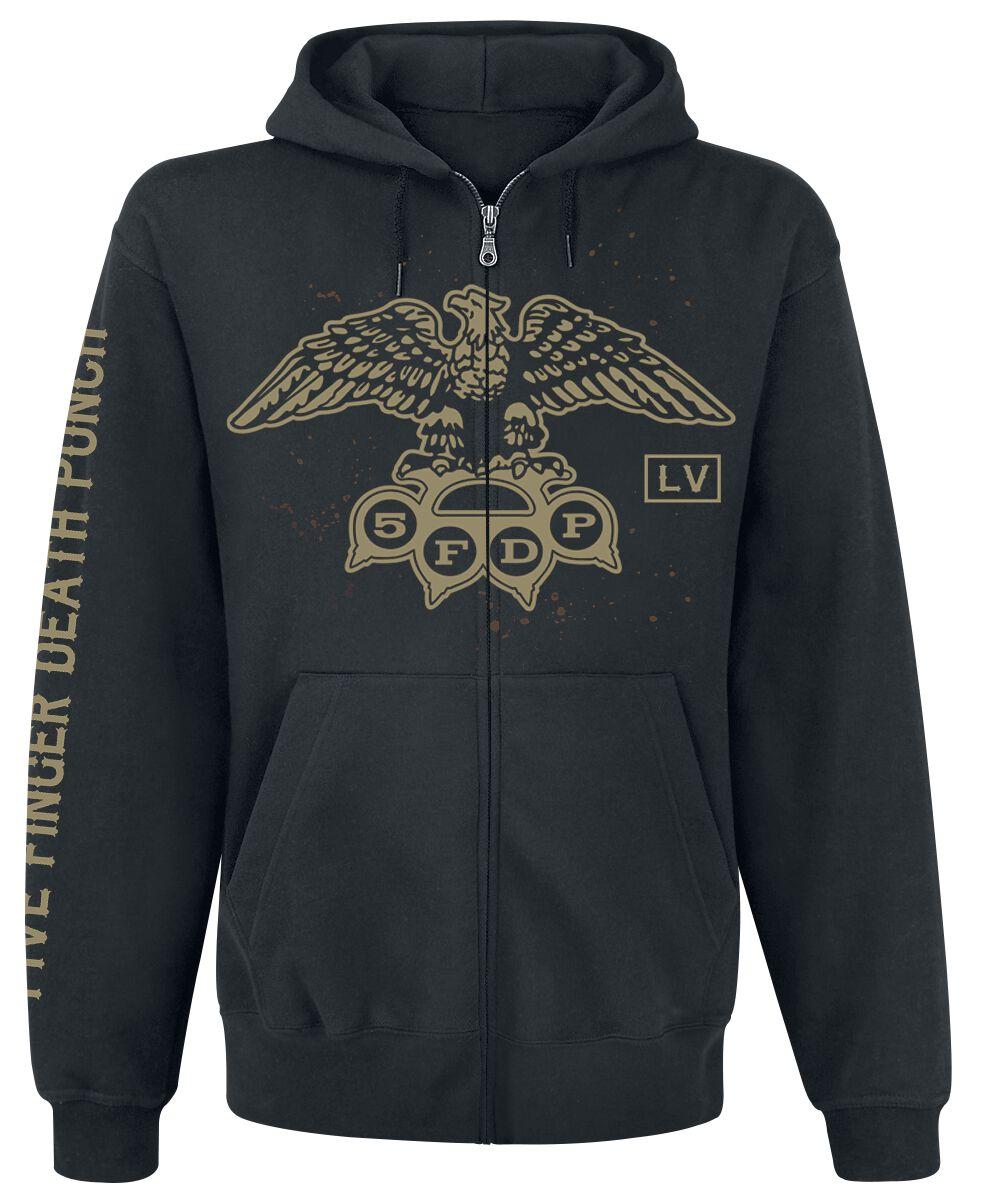 Image of   Five Finger Death Punch LV Crest Hættejakke sort