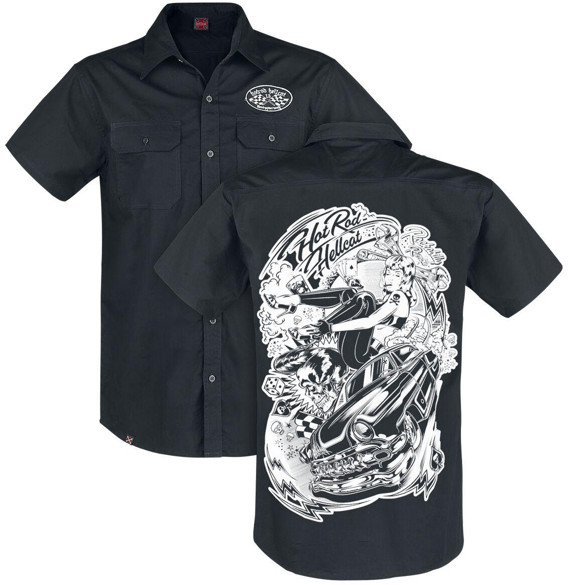 Hot Rod Hellcat Rockabilly Rumble Hemd schwarz