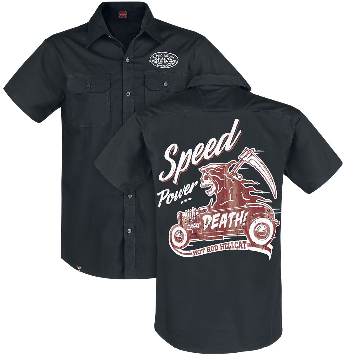 Hot Rod Hellcat Reaper Hemd schwarz