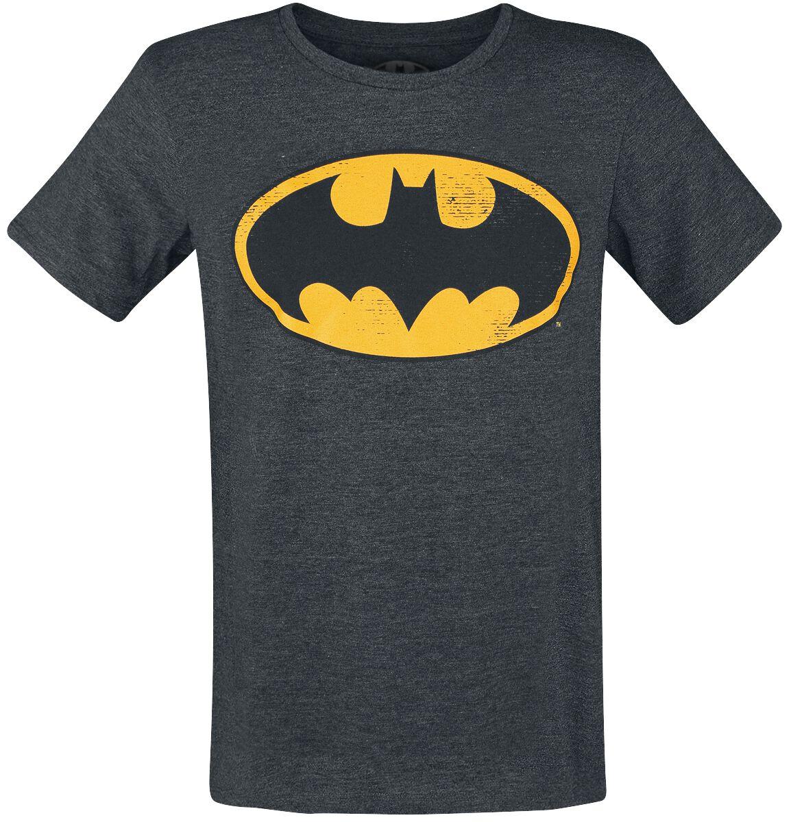 Image of   Batman Logo Vintage T-Shirt Antracitmix