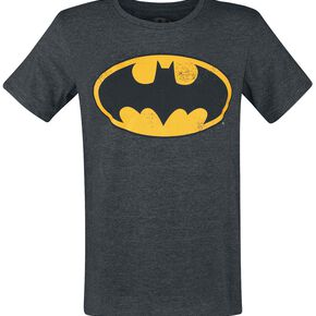 Batman Logo Vintage T-shirt Gris anthracite chiné