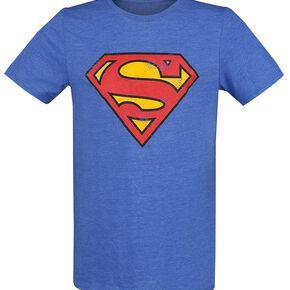 Superman Logo Vintage T-shirt bleu chiné