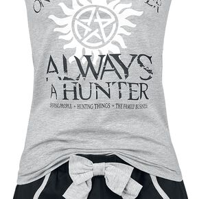 Supernatural Once A Hunter Always A Hunter Pyjama gris clair chiné/noir