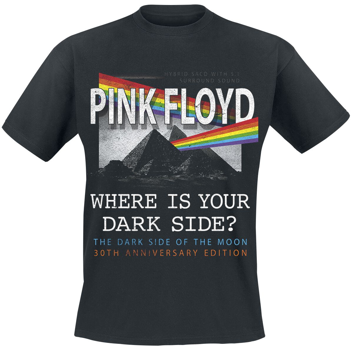 Image of   Pink Floyd Where Is Your Dark Side? T-Shirt sort