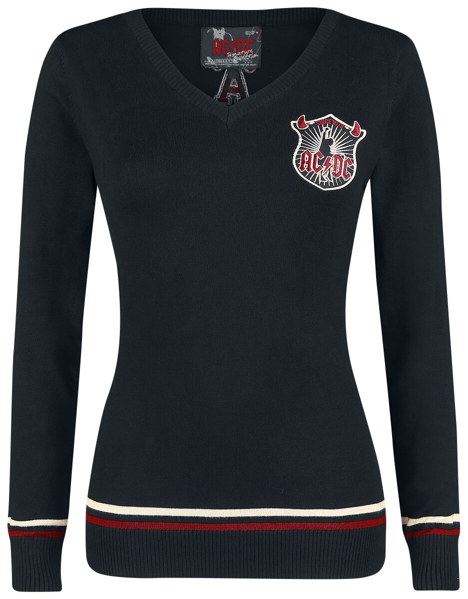 Image of   AC/DC EMP Signature Collection Girlie sweater sort