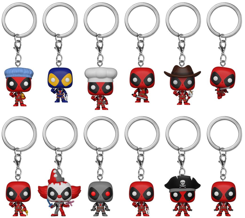 Image of   Deadpool Mystery Pocket Pop Keychain Nøglering Standard