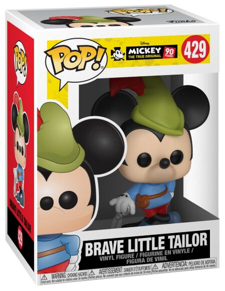 Image of   Mickey & Minnie Mouse Mickey's 90th Anniversary - Brave Little Tailor Mickey Vinyl Figure 429 Samlefigur Standard