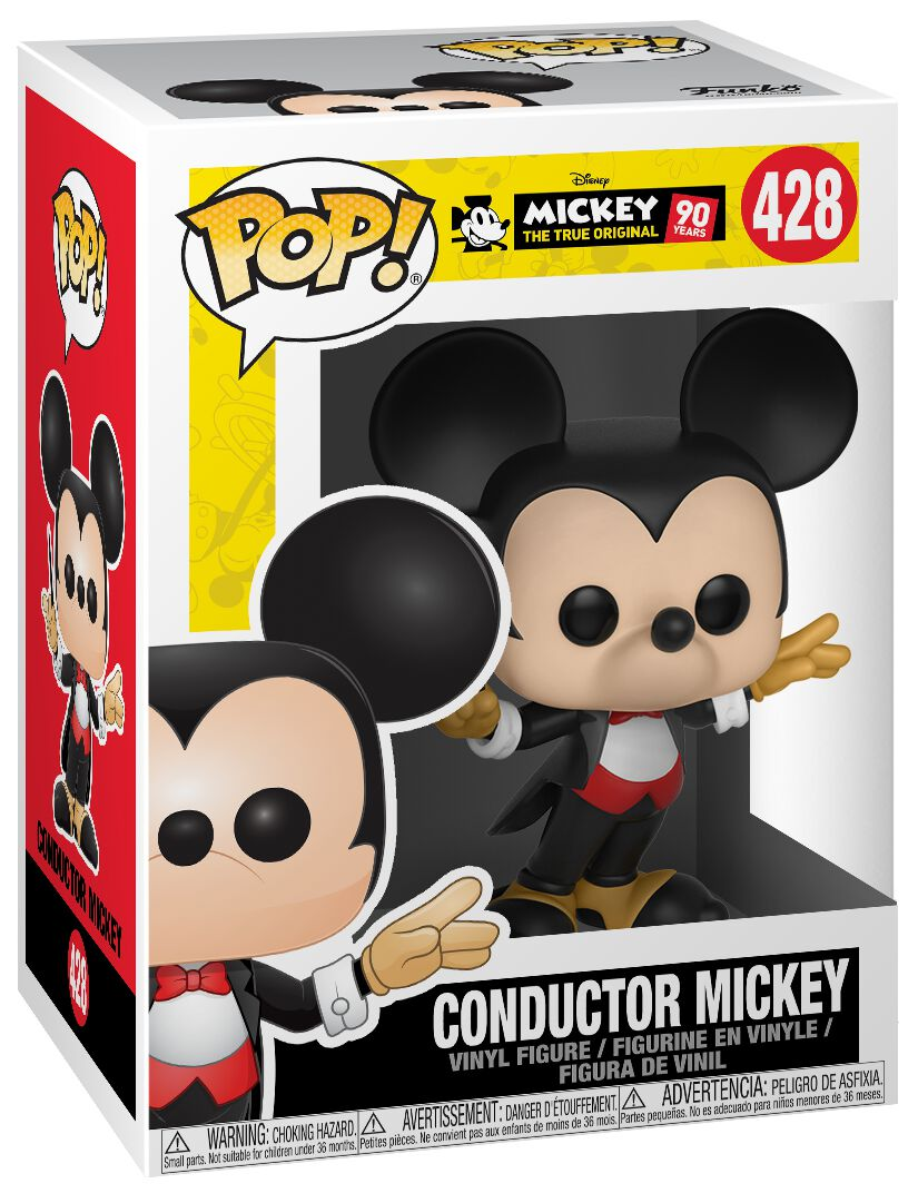 Image of   Mickey & Minnie Mouse Mickey's 90th Anniversary - Conductor Mickey Vinyl Figure 428 Samlefigur Standard