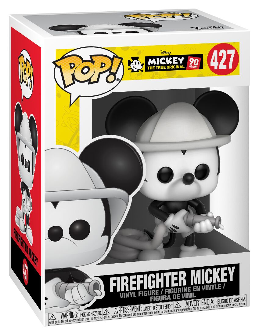 Image of   Mickey & Minnie Mouse Mickey's 90th Anniversary - Firefighter Mickey Vinyl Figure 427 Samlefigur Standard