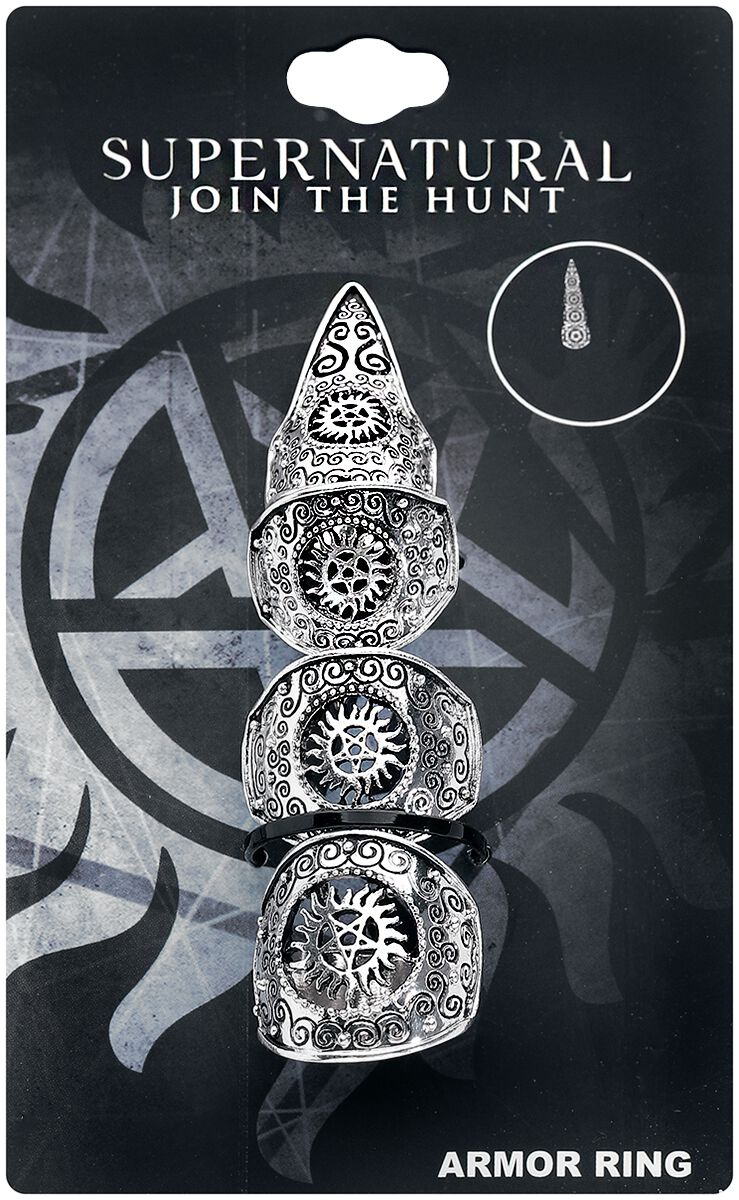 Image of   Supernatural Armor Ring Ring sølvfarvet