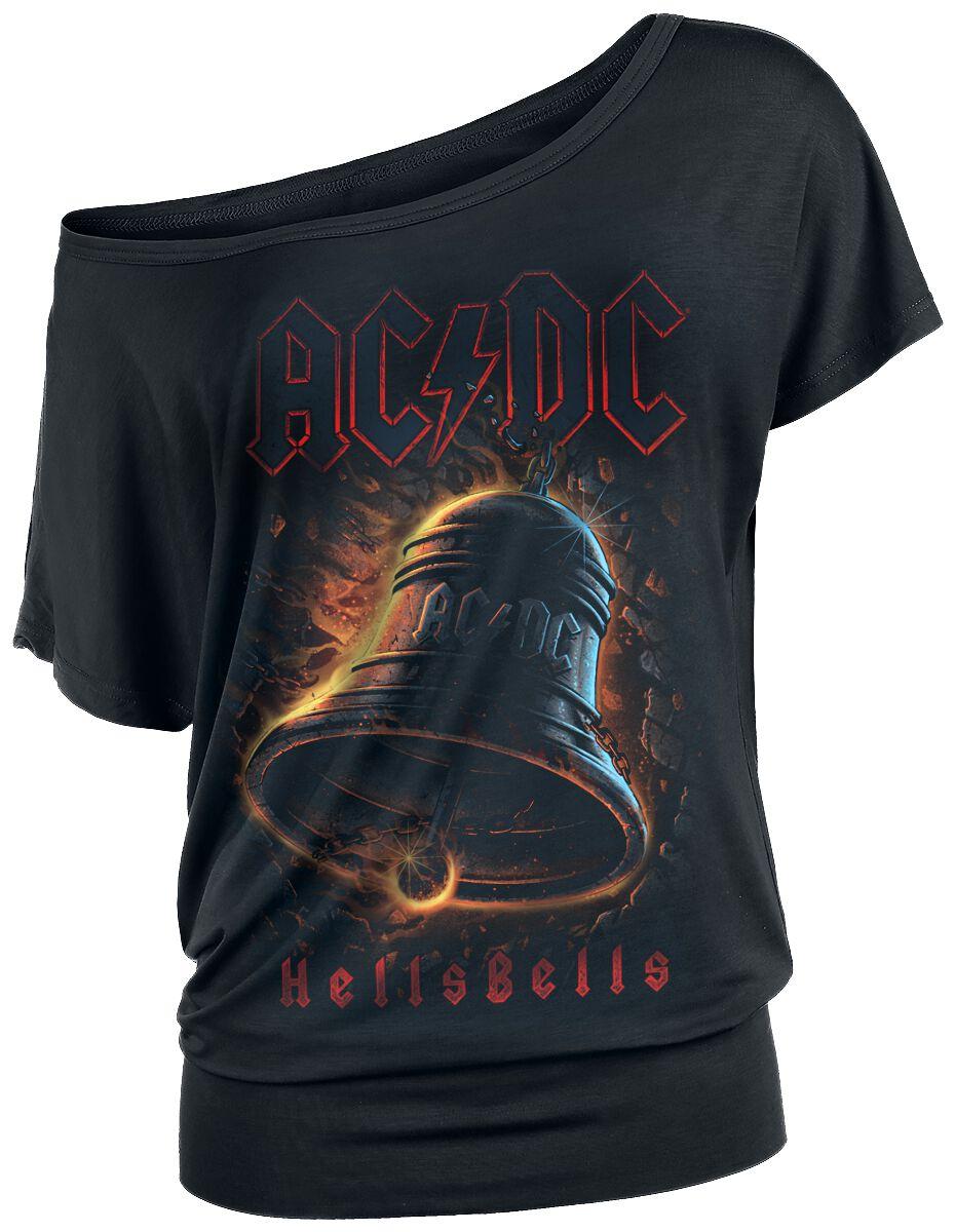 Image of   AC/DC Hells Bells Girlie trøje sort