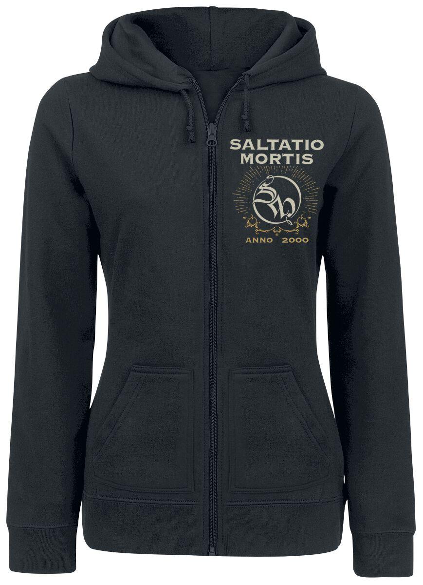 Saltatio Mortis Anchor Skull Bluza z kapturem rozpinana damska czarny
