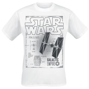 Star Wars Solo: A Star Wars Story - Tie Fighters Features T-shirt blanc