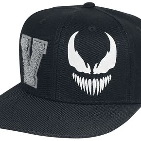 Marvel Venom Men's Varsity Snapback Cap - Black
