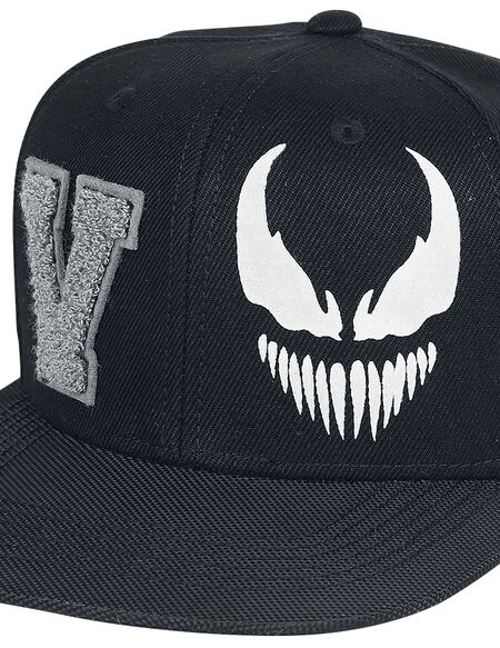 Marvel Venom Men's Varsity Snapback Cap - Black