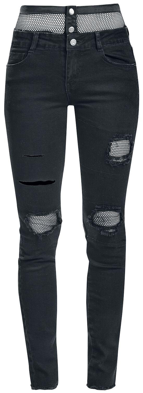 Image of   Fashion Victim Netz Jeans Girlie jeans sort