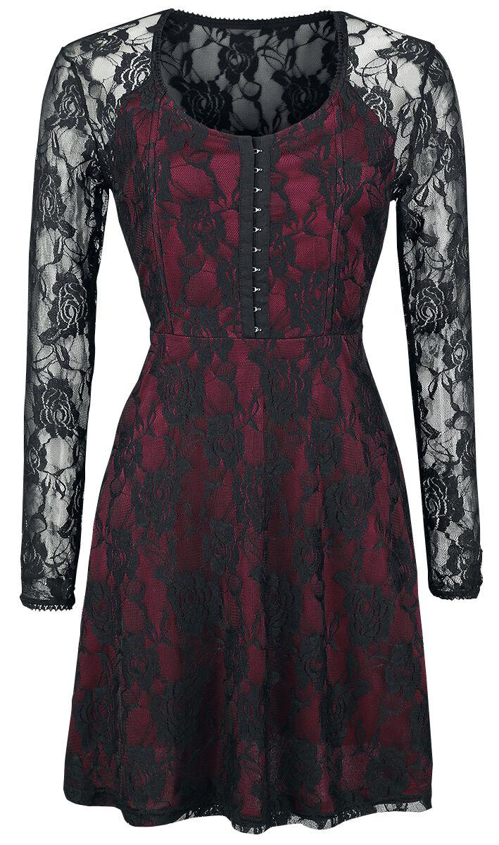 Image of   Fashion Victim Victoria Dress Kjole rød-sort