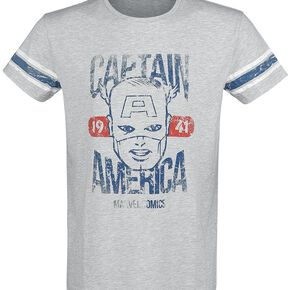 Captain America Marvel Comics 1941 T-shirt gris clair chiné