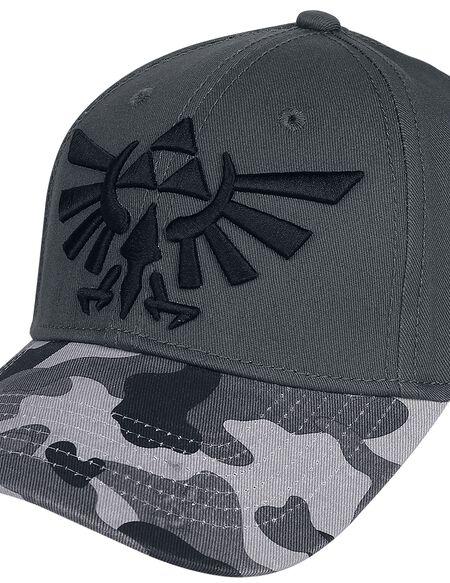 Nintendo The Legend of Zelda Tri-Force Logo Camouflage Cap - Grey