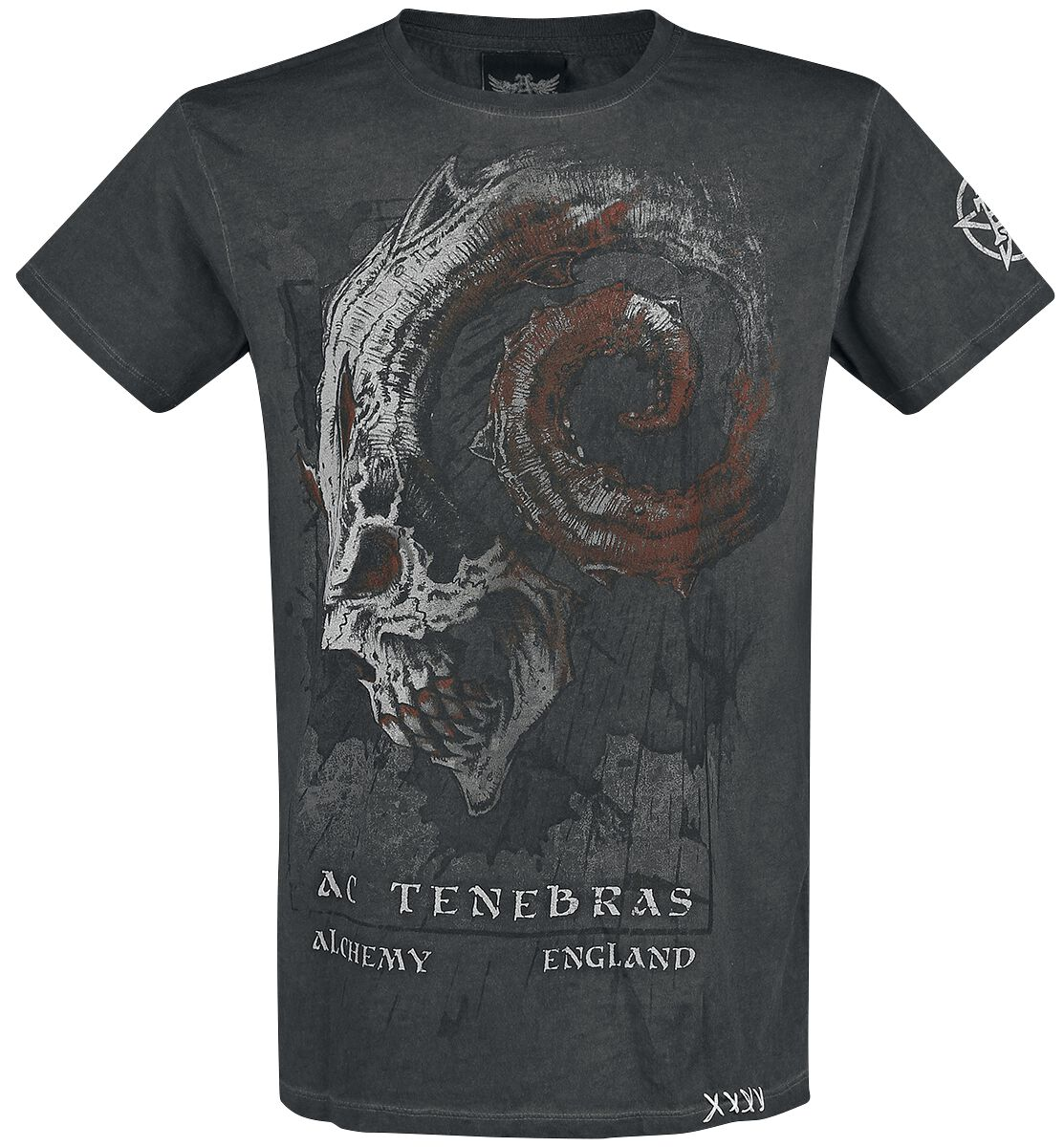 Image of   Alchemy England Scourge of Atlantis T-Shirt antracit