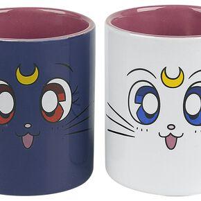 Sailor Moon Luna & Artemis Set de Mugs multicolore