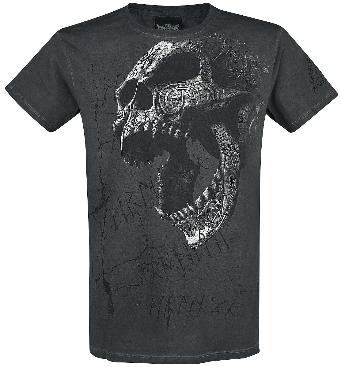 Image of   Alchemy England Berserker Skull T-Shirt antracit