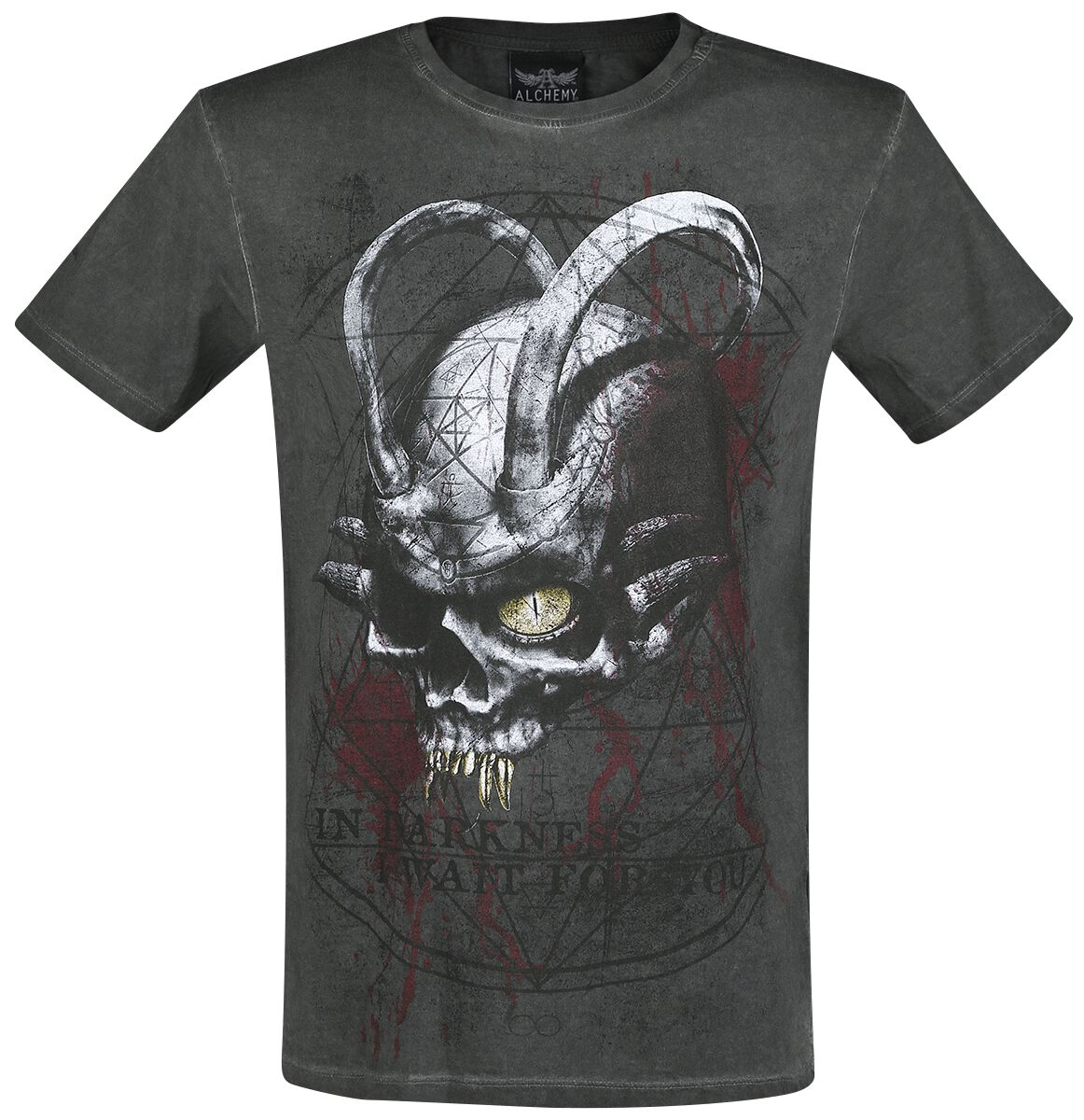 Image of   Alchemy England The Horned One T-Shirt antracit