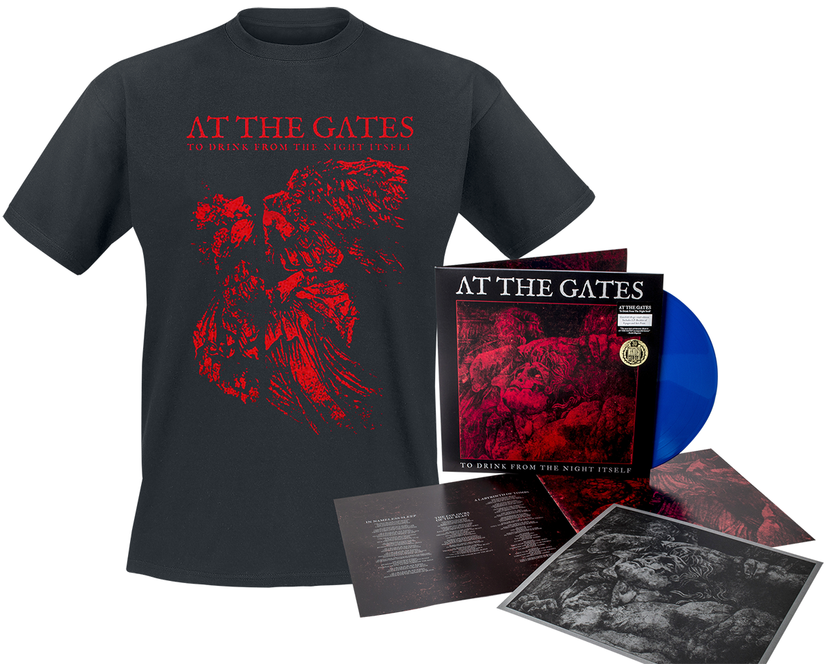 At The Gates - To drink from the night itself - LP & T-Shirt - blue