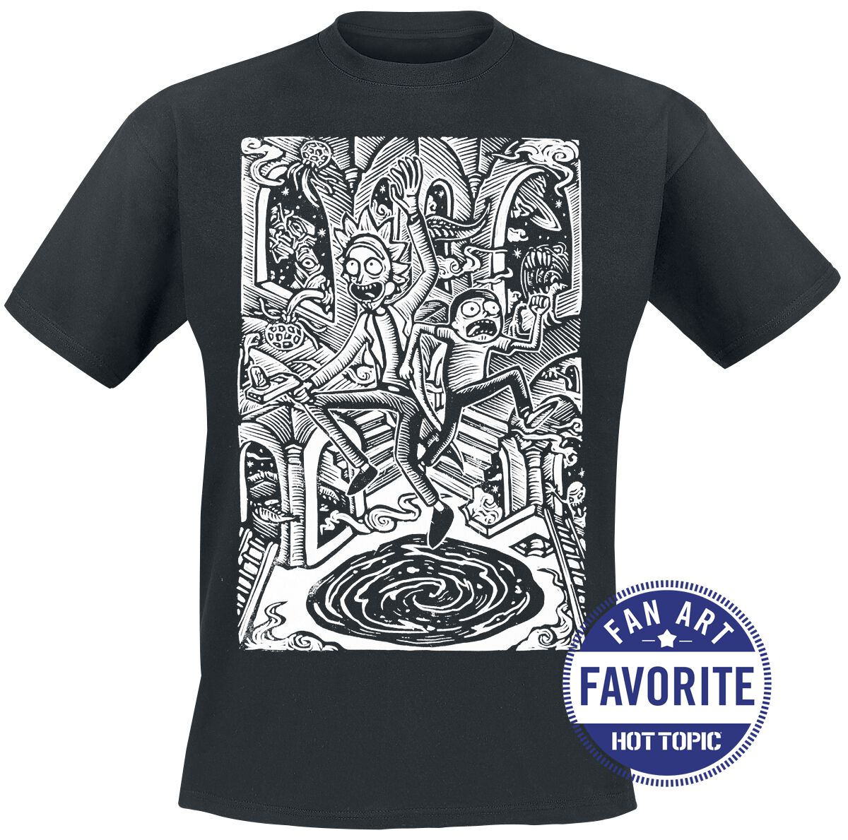 Image of   Rick And Morty Portal Problems T-Shirt sort