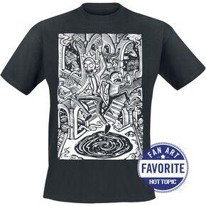 Rick & Morty Portal Problems T-shirt noir