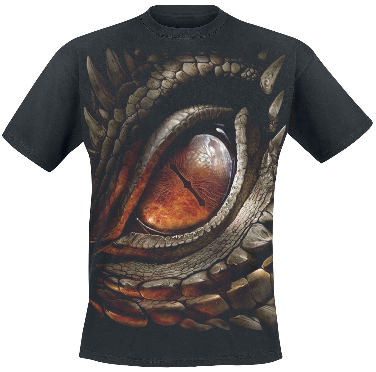 Image of   Spiral Dragon Eye T-Shirt sort