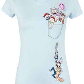 Rick & Morty Just A Pocket Full T-shirt Femme bleu clair