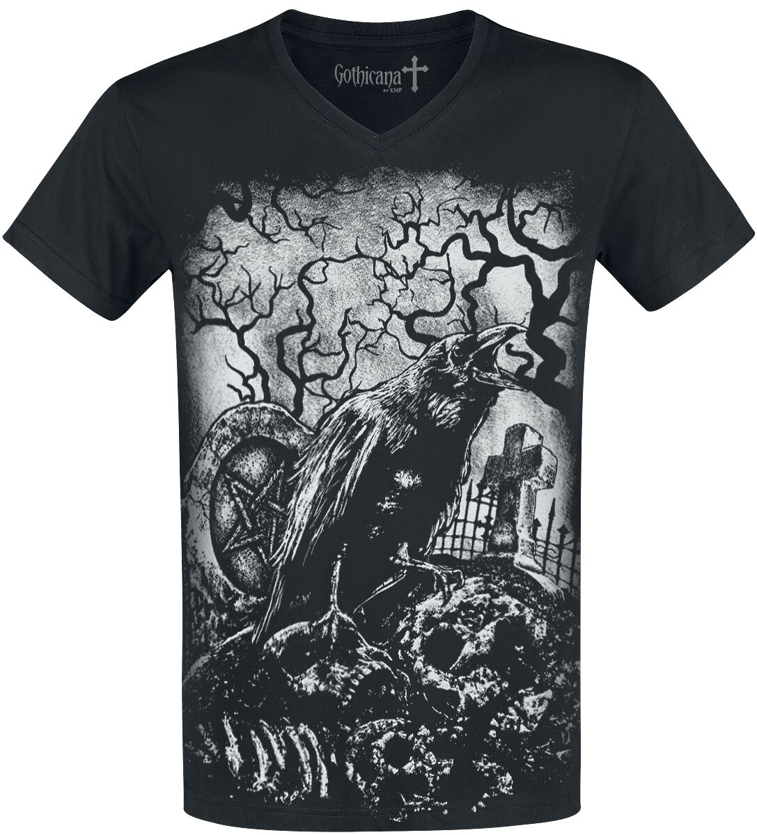 Image of   Gothicana by EMP Heavy Soul T-Shirt sort