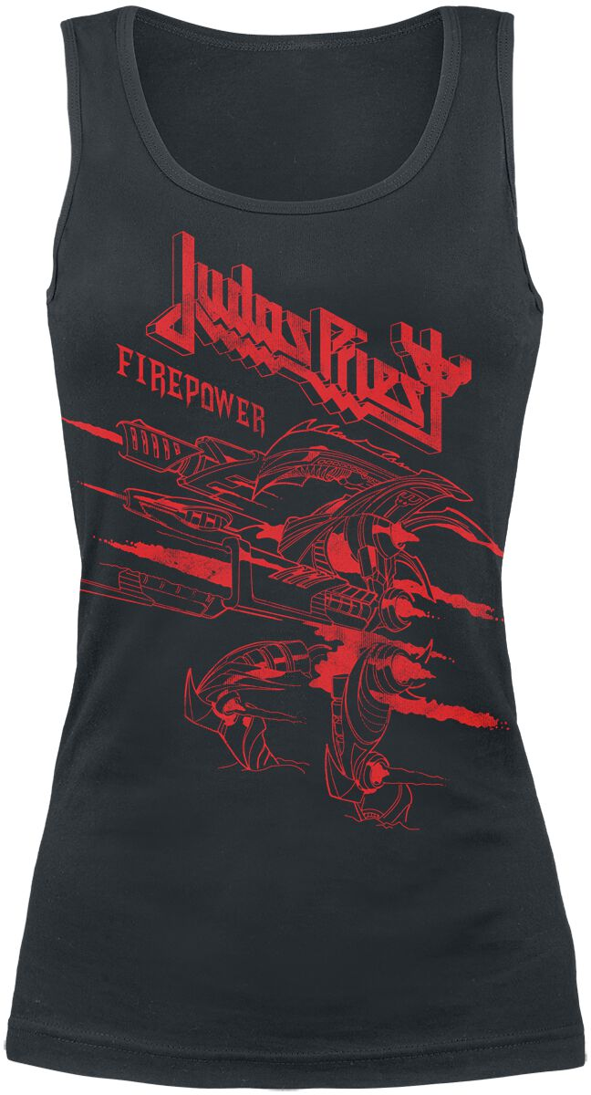Image of   Judas Priest Firepower - One Colour Girlie top sort