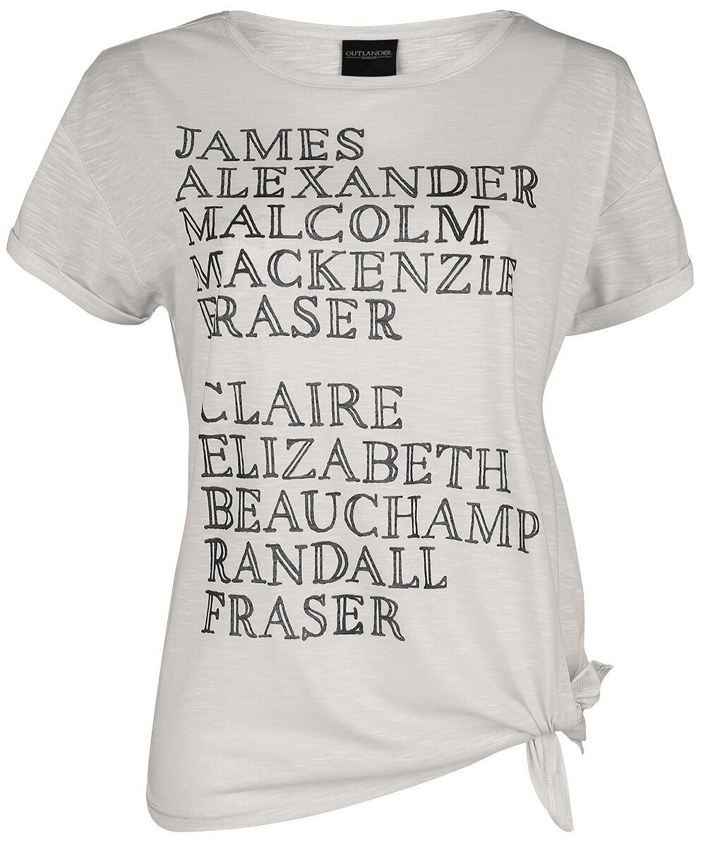 Outlander Names Koszulka damska biały (Old White)