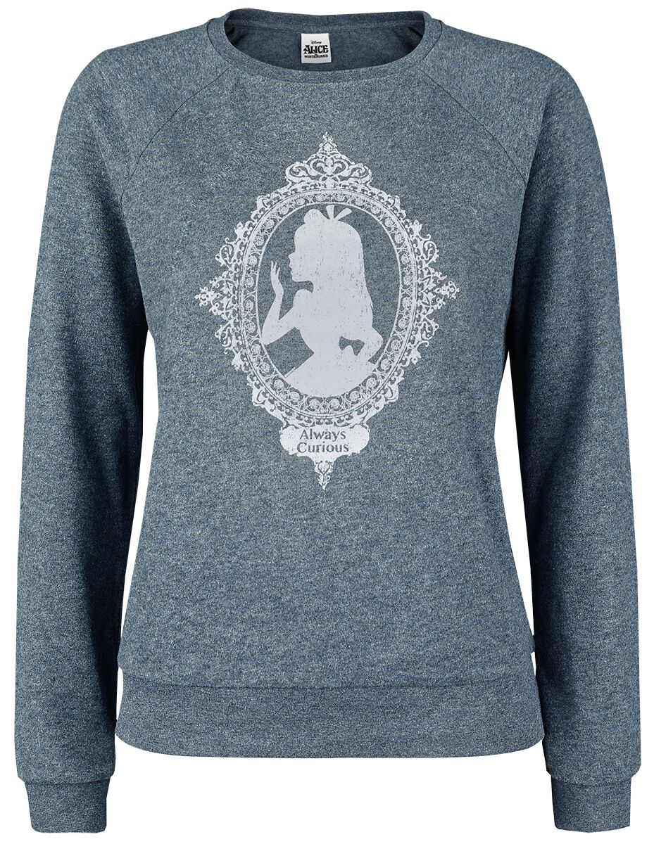 Image of   Alice i Eventyrland Always Curious Girlie sweatshirt blandet blå