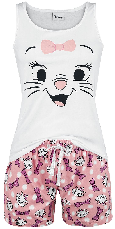 Image of   Aristocats Marie - Pink Bow Pyjamas hvid-pink