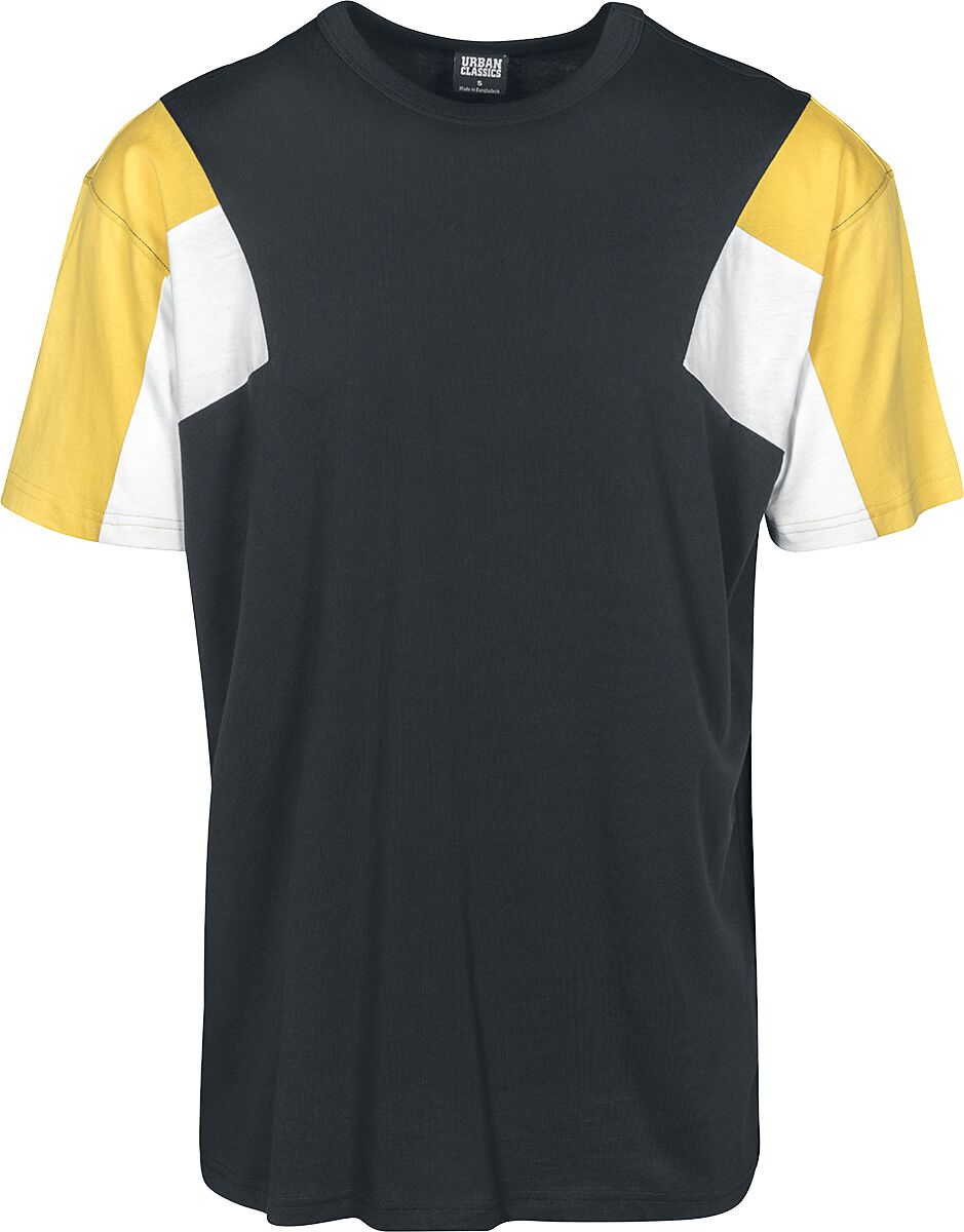 Image of   Urban Classics 3-Tone Tee T-Shirt sort/hvid/gul