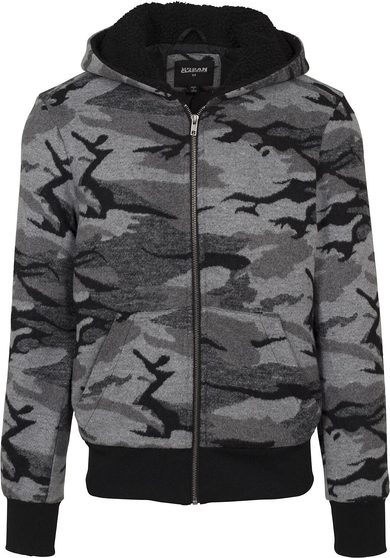 d09d9a60 Urban Classics Camo jakke med lynlås Hættejakke mørk camo