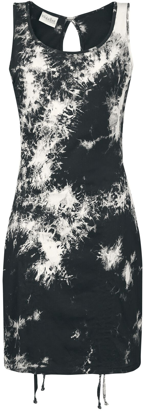 Image of   Innocent Alina Tie Dye Dress Kjole sort-hvid