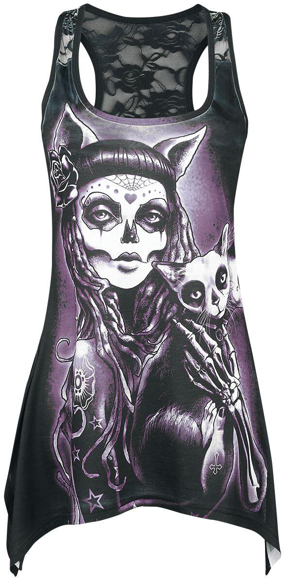 Image of   Vixxsin Camilla Lace Panel Vest Girlie top multifarvet