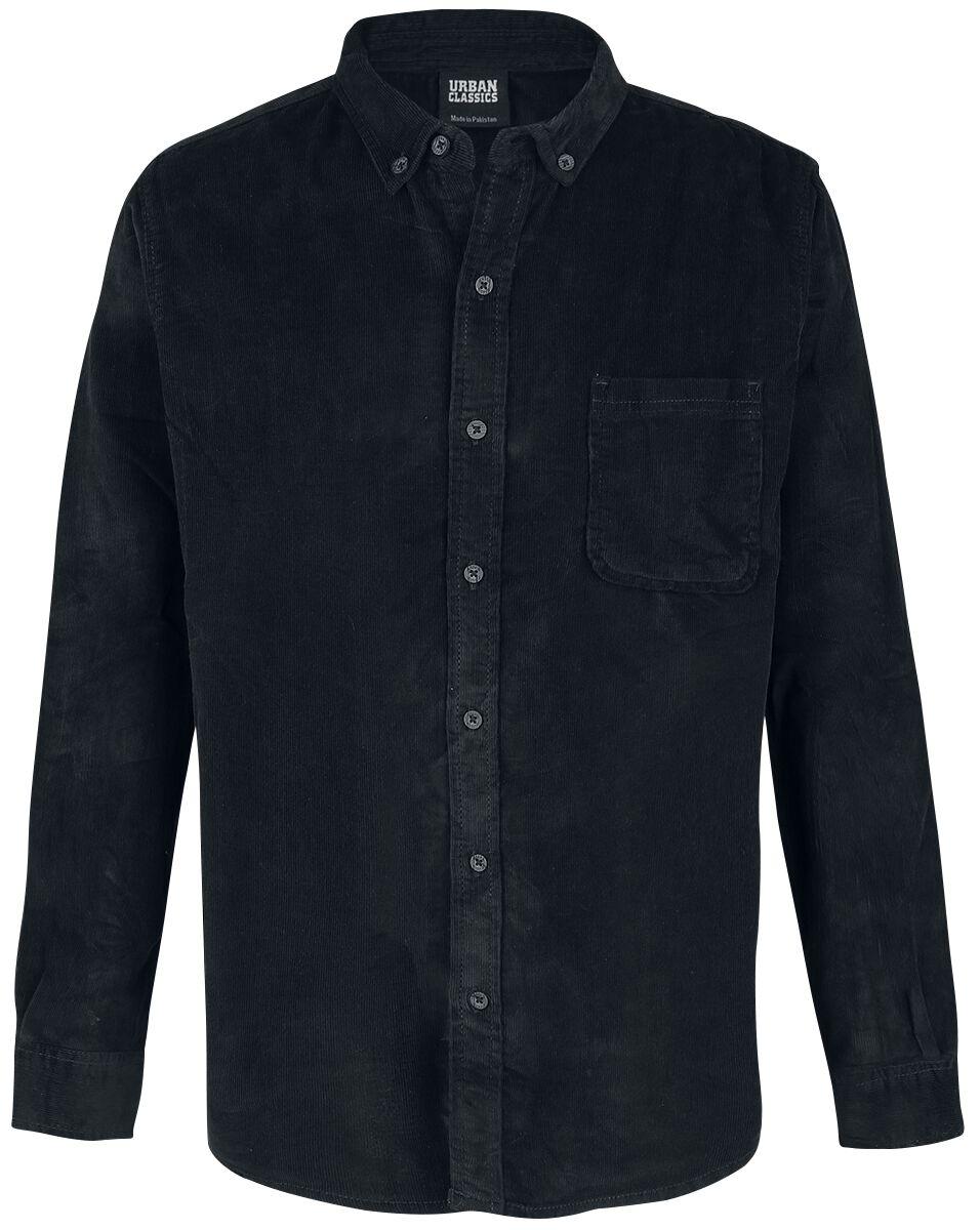 Image of   Urban Classics Corduroy Shirt Skjorte sort