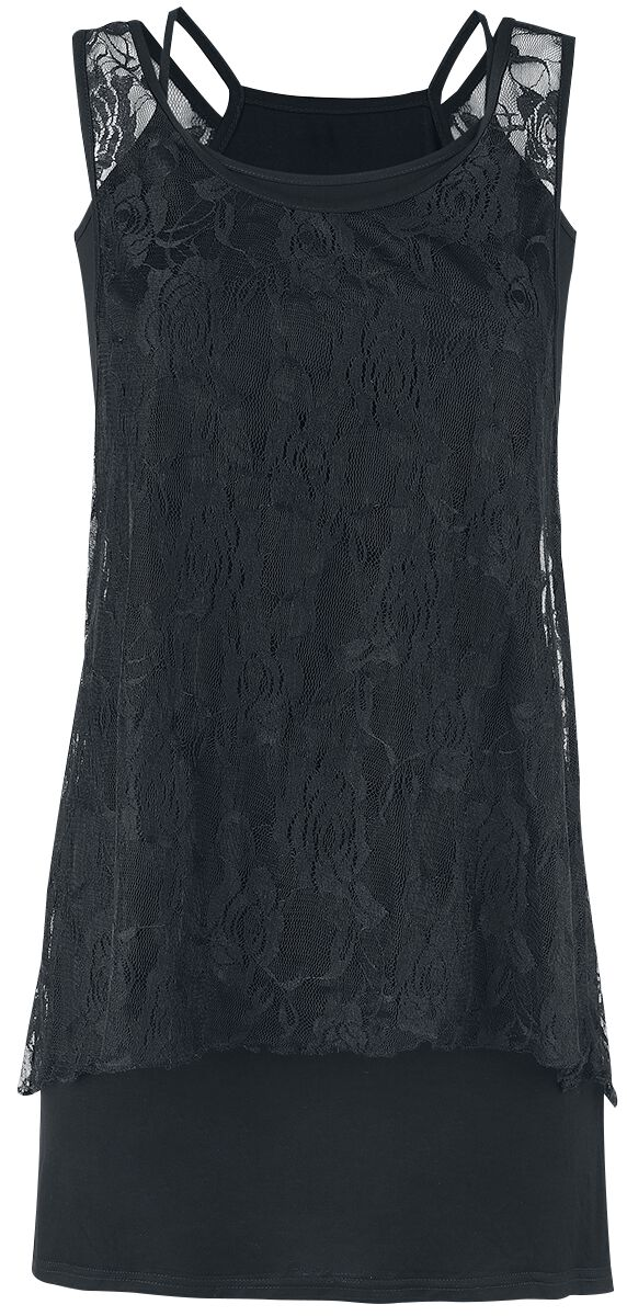 Image of   Forplay Laced 2 in 1 Top Girlie top sort