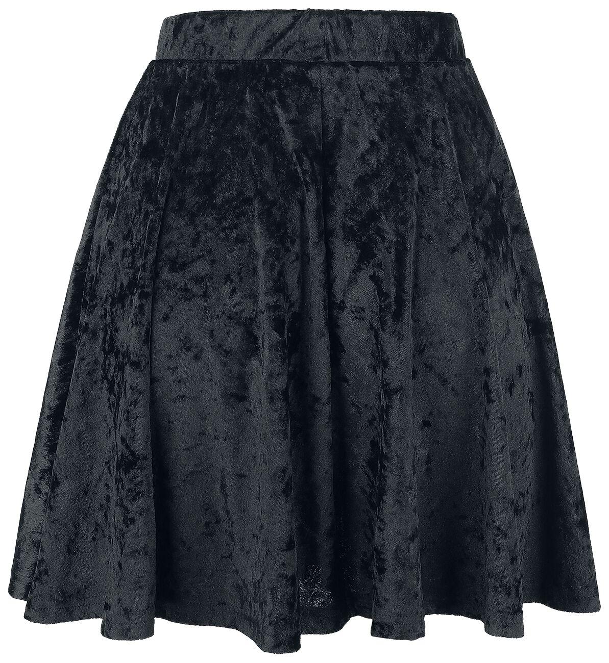 Forplay Velvet Skirt Spódnica czarny