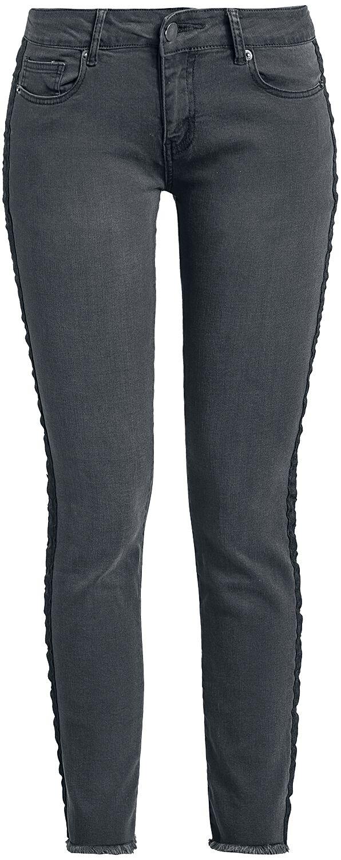 Image of   Forplay Skarlett Side Stripe Jeans Girlie jeans sort